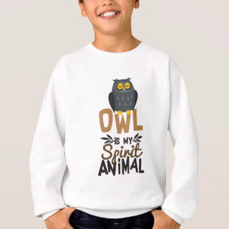 Nice Owl Is My Spirit Animal Print Sweatshirt