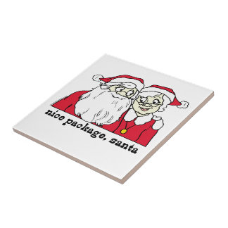 Nice Package Santa Claus Small Square Tile