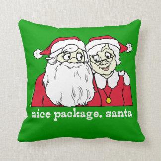 Nice Package Santa Throw Pillows