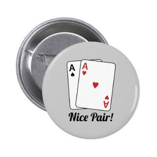 Nice Pair Pinback Buttons