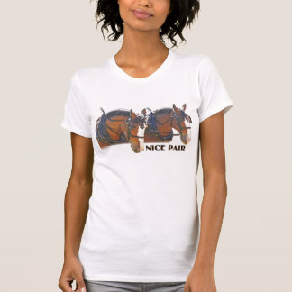 """""""Nice Pair"""" Clydesdale Draft Horse T-Shirt"""