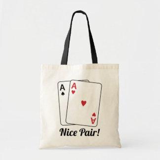 Nice Pair Budget Tote Bag