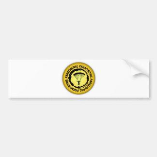Nice Parachuting Seal Bumper Sticker