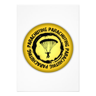Nice Parachuting Seal Custom Invitation