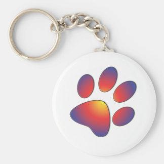 Nice Paw Print Design Key Ring