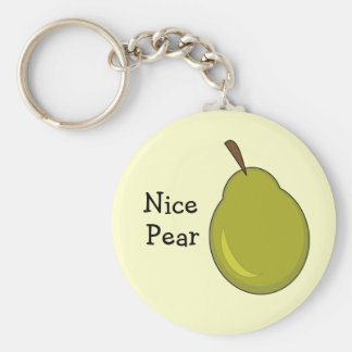Nice Pear -- Fruity, Flirty Design Key Ring