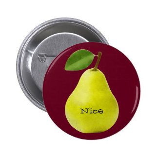 Nice Pear - Funny 6 Cm Round Badge