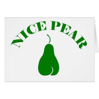 NICE PEAR GREETING CARD