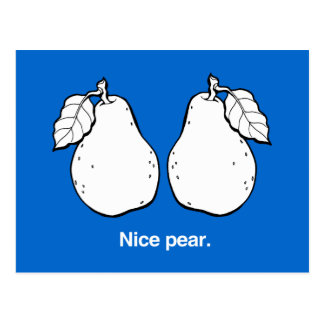 NICE PEAR - WHITE -.png Postcard