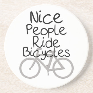 Nice People Ride Bicycles Coaster