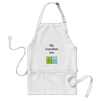Nice periodic table name apron