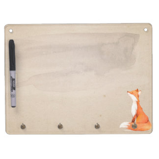 Nice red fox dry erase board with key ring holder