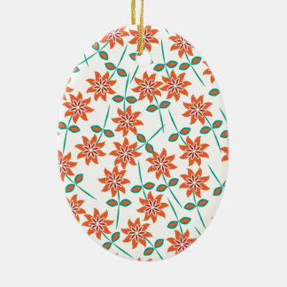 Nice Red-orange color lilies. Girly, double-sided Ceramic Oval Decoration