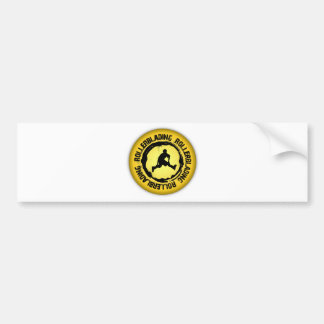 Nice Rollerblading Seal Bumper Sticker