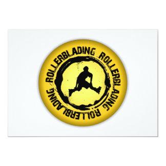 Nice Rollerblading Seal 13 Cm X 18 Cm Invitation Card