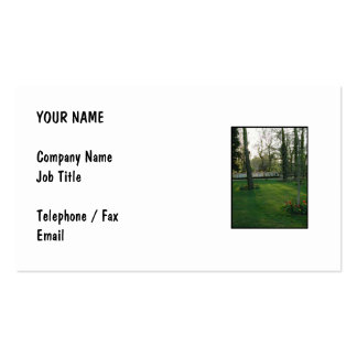 Nice scene with Narrowboat. Business Card Template
