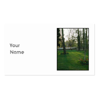 Nice scene with Narrowboat. Business Card Templates