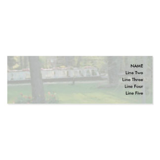 Nice scene with Narrowboat. Pack Of Skinny Business Cards