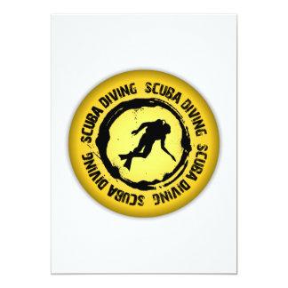 Nice Scuba Diving Seal 13 Cm X 18 Cm Invitation Card