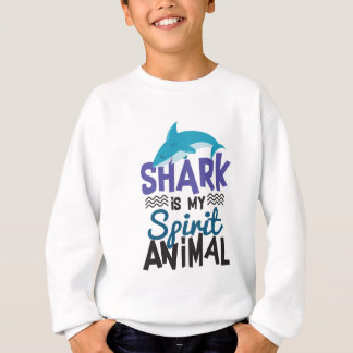 Nice Shark Is My Spirit Animal Print Sweatshirt