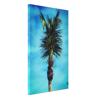 Nice & Simple Palm Tree Vertical Canvas Print