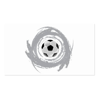 Nice Soccer Circular Grunge Pack Of Standard Business Cards