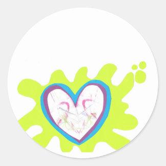 nice spot round sticker
