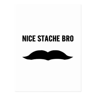 Nice Stache Bro Postcards