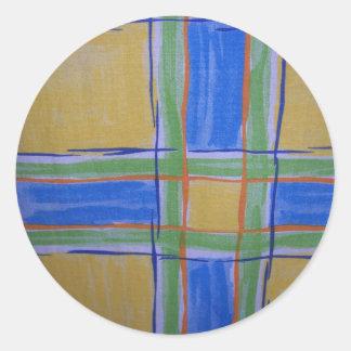Nice stripey pattern round sticker