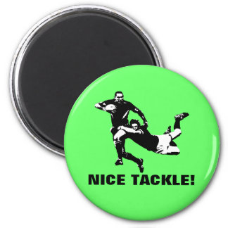 Nice tackle,Rugby 6 Cm Round Magnet