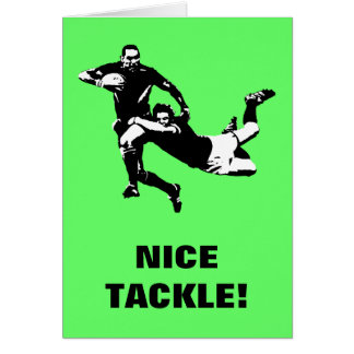Nice tackle,Rugby Card