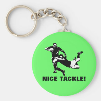 Nice tackle,Rugby Key Ring