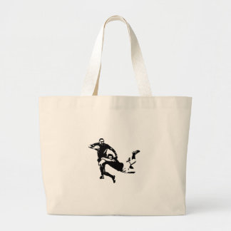 Nice tackle,Rugby Large Tote Bag