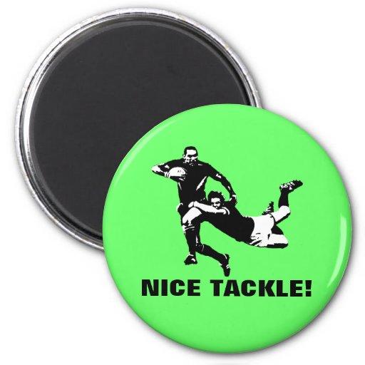 Nice tackle,Rugby Refrigerator Magnet