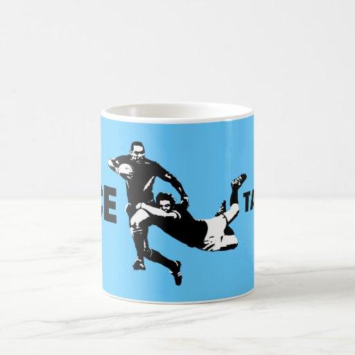 Nice tackle,Rugby Coffee Mugs