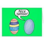Nice Tattoo Easter Eggs Greeting Card