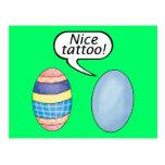 Nice Tattoo Easter Eggs Post Card