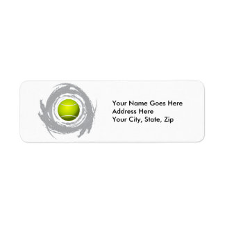 Nice Tennis Circular Grunge Return Address Label