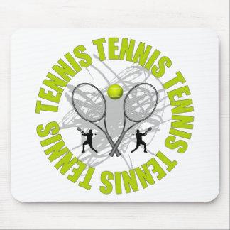 Nice Tennis Emblem Mouse Pad