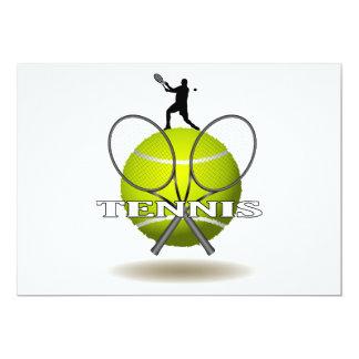 Nice Tennis Insignia 13 Cm X 18 Cm Invitation Card