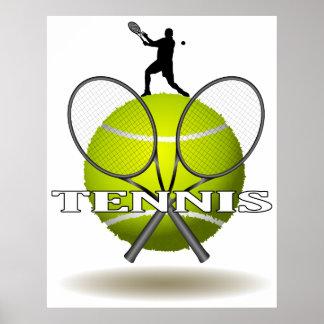 Nice Tennis Insignia Poster