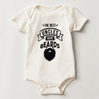 Nice The Best Uncles Have Beards Print Baby Bodysuit