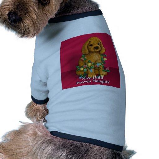 Nice until Proven Naughty Doggie Tee Shirt