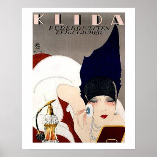 Nice Vintage Klida Vaporizer Ad Poster
