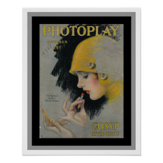 Nice Vintage Photoplay Magazine Cover Poster