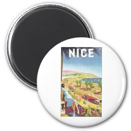 NICE Vintage Travel Poster Magnet