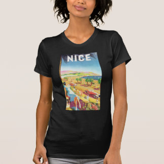 Nice Vintage Travel Poster Tee Shirt