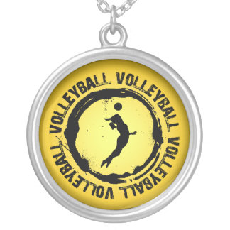 Nice Volleyball  Seal (Female) Silver Plated Necklace