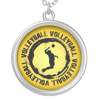 Nice Volleyball  Seal (Male) Round Pendant Necklace