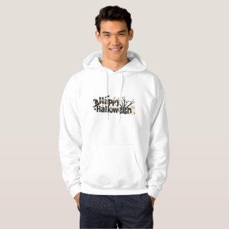 NICE WHITE HOODIE : HAPPY HALLOWEEN